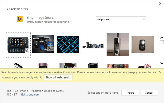 Clip Art ahora funciona con Bing Imágenes