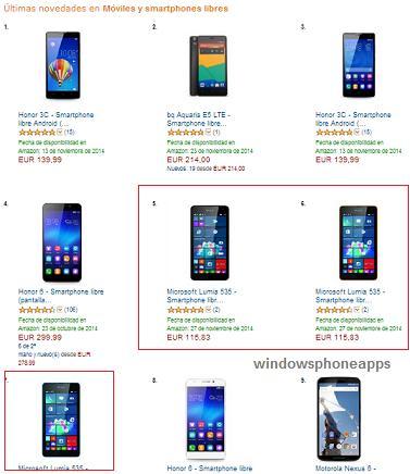 Lumia 535 top amazon