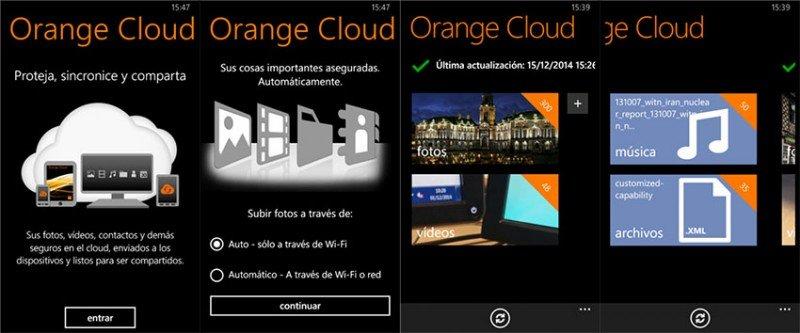 orange cloud windows phone