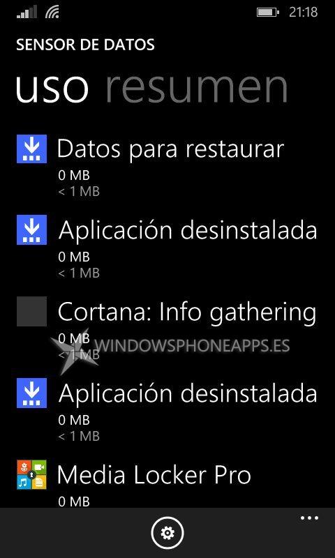 Cortana Sensor de Datos