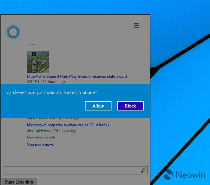 Nuevas imágenes de Cortana funcionando en Windows 10