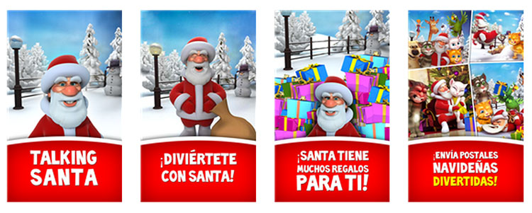 talking santa capturas