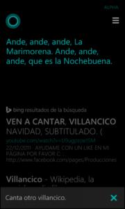 Cortana sigue aprendiendo Español y se prepara para la Navidad