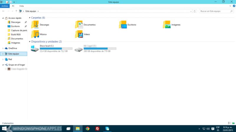Windows 10 Explorador