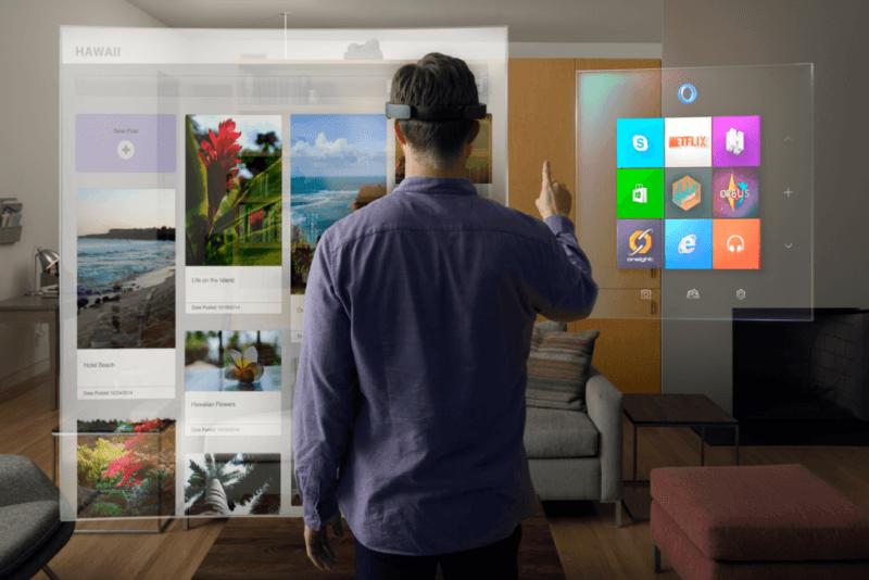Microsoft HoloLens funcionando con Windows 10