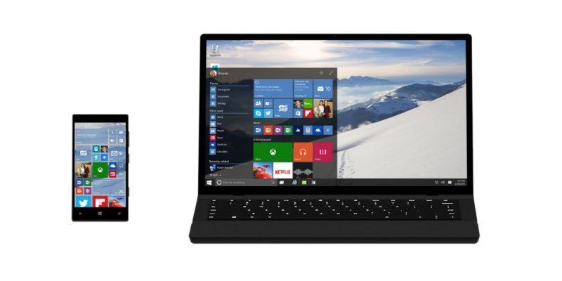 Windows 10 en el móvil y en el ordenador