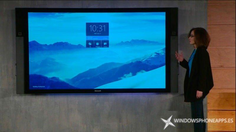 Microsoft Surface Hub funcionando con Windows 10