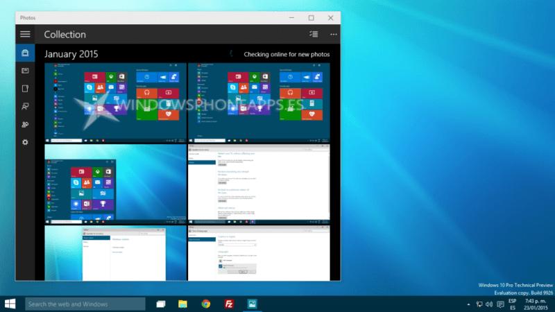 Windows 10 Fotos