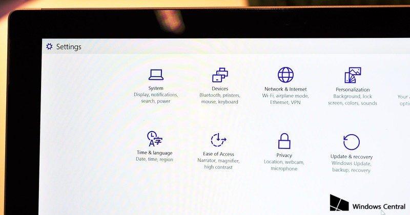 Los ajustes toman un nuevo aspecto en Windows 10