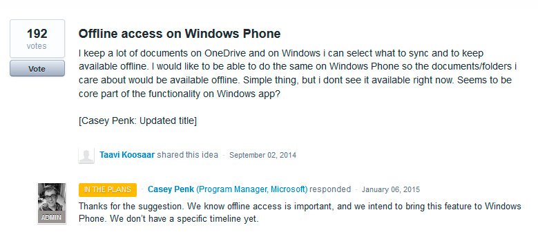 Acceso offline de OneDrive