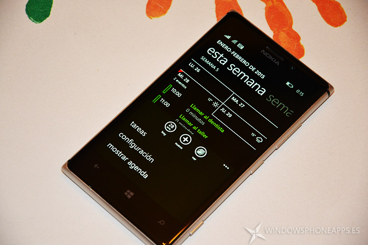 Calendario de Windows Phone 8.1