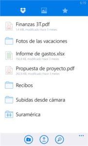 Dropbox llega a Windows Phone