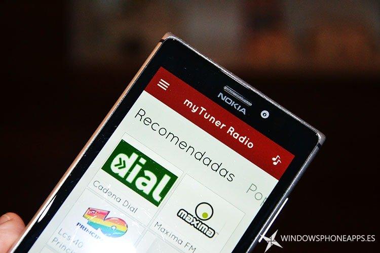 myTuner Radio para Windows Phone 8.1