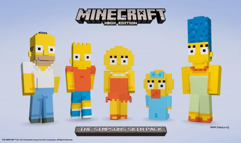 Los Simpsons mas pixelados que nunca en Minecraft para Xbox One y Xbox 360