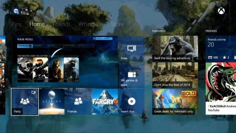 xbox one windows 10 tiles