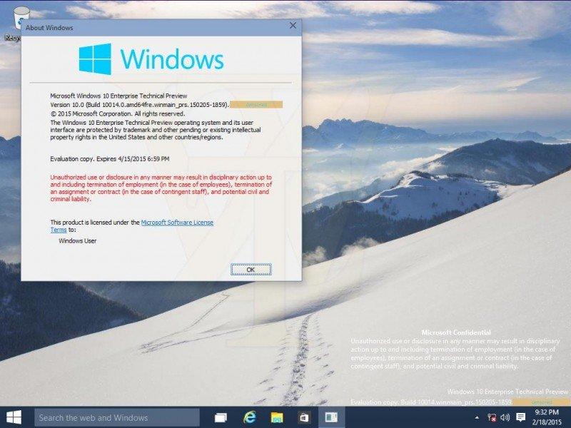Windows 10 Build 10014