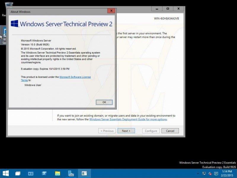 Windows 10 Server