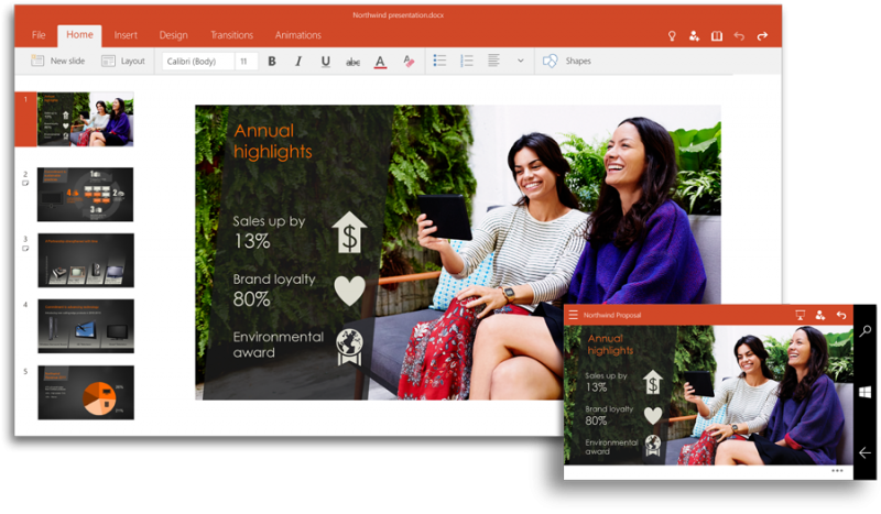 Las aplicaciones universales de Office ya se pueden descargar en Windows 10 Technical Preview.