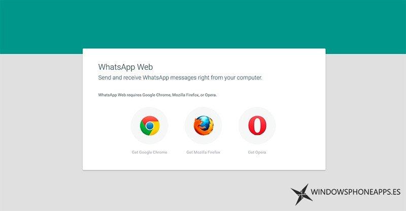 WhatsApp Web también disponible para Mozilla Firefox y Opera