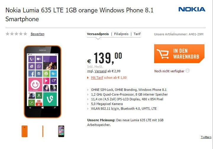 lumia 635 1 gb