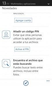Onedrive para Windows Phone 8.1 recibirá hoy una actualización con nuevas funciones [Disponible]