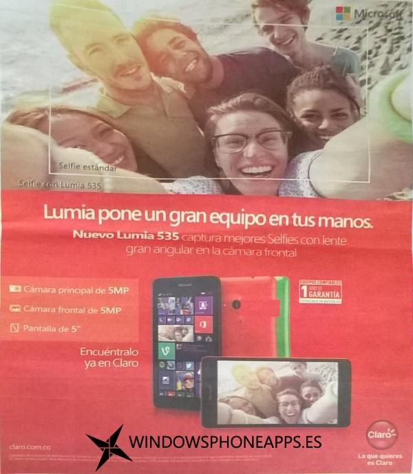 Lumia 535 Claro