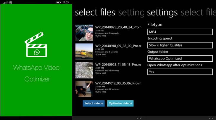 WhatsApp Video Optimizer