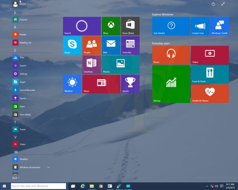 Windows 10 Build 10031