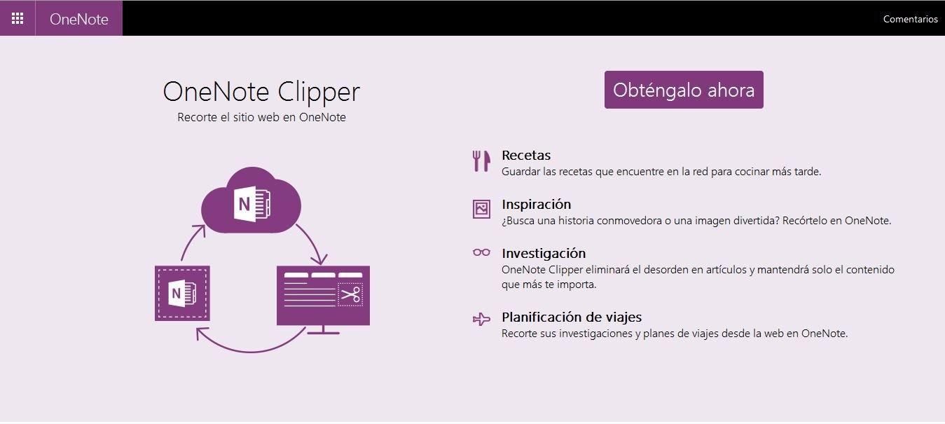 OneNote actualiza Clipper 2.0 aumentando su funcionalidad