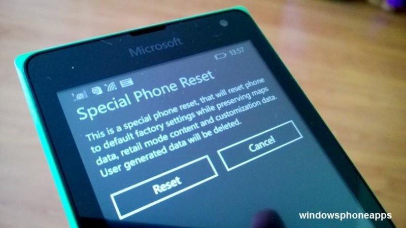 reset windows phone
