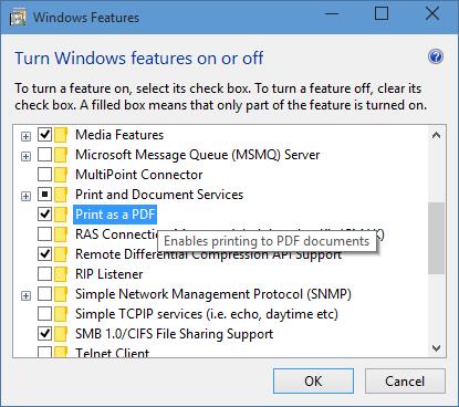 Windows 10 permitirá de forma nativa imprimir como documento PDF