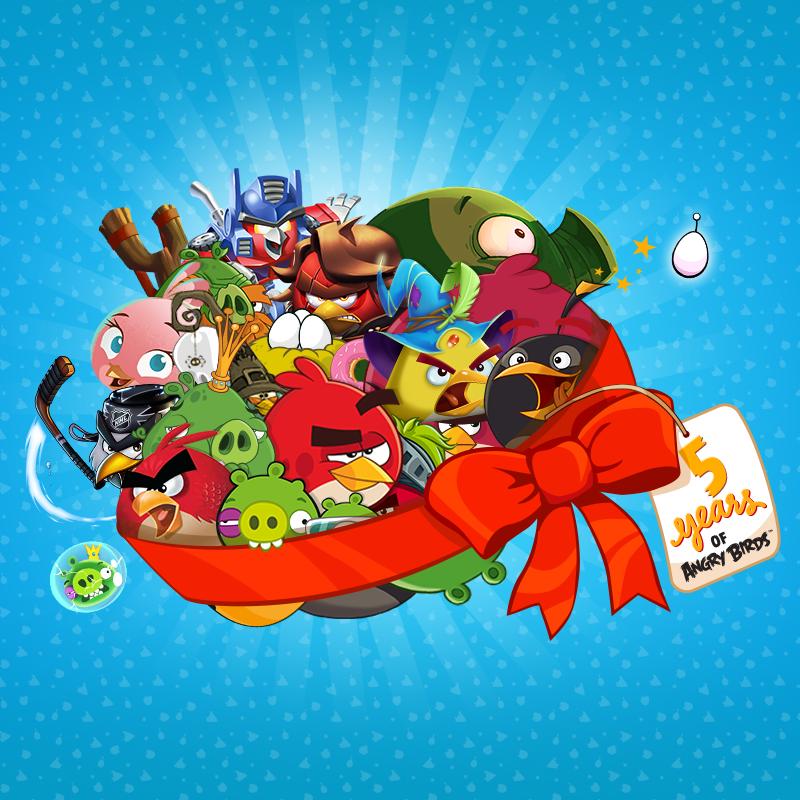 quinto aniversario de Angry Birds