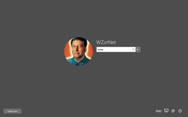 Pantalla de inicio de sesión en Windows 10 Build 10031