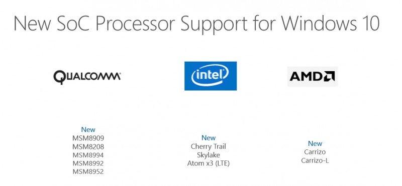procesadores windows 10