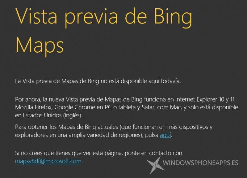 vista previa bing maps