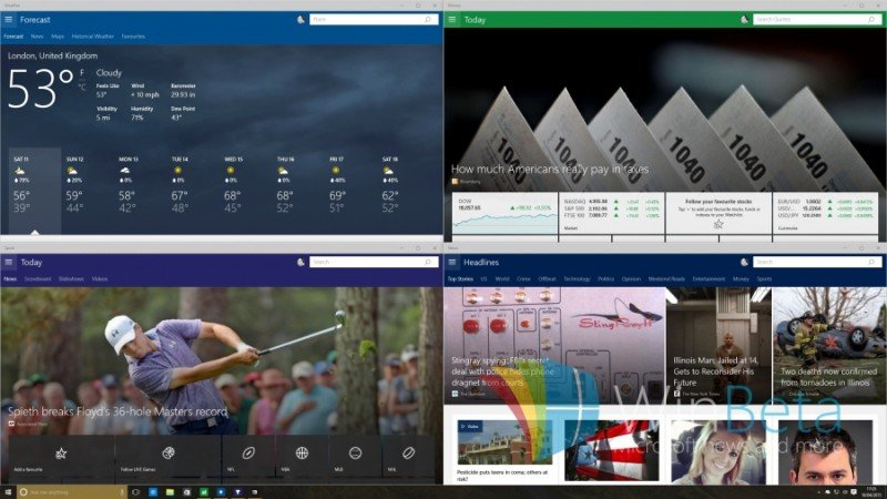 WINDOWS 10 BUILD 10056 APPS MSN