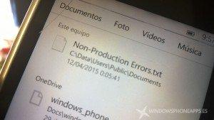 Grave bug aparece en Windows 10 para móviles (Preview) [actualizado]
