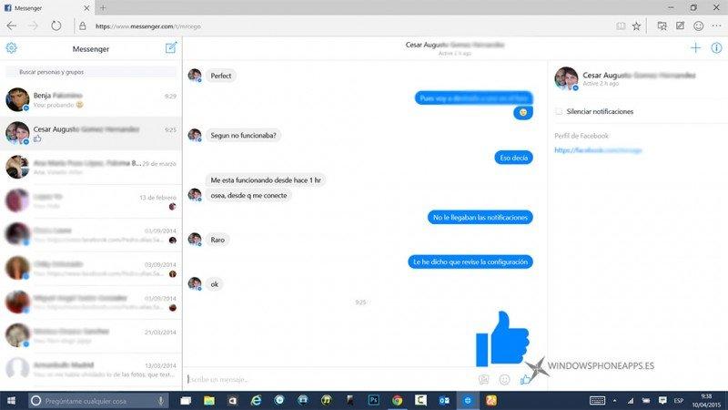 chat de Messenger.com