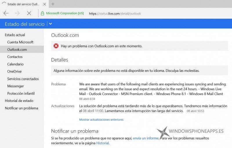 ¿Problemas con Outlook?