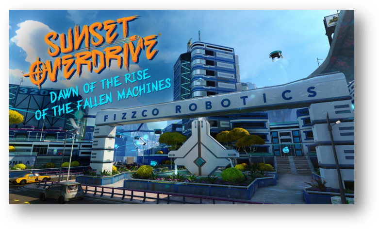 sunset overdrive - dawn of rise of the fallen machines