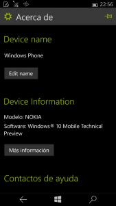 Os mostramos la nueva versión de Windows 10 para móviles en imágenes