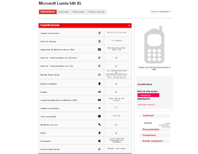 Lumia 640 XL Claro