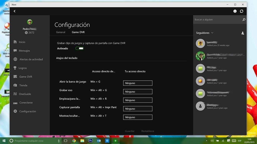DVR Game configuracion