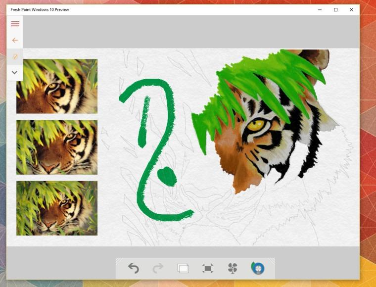 Fresh Paint Windows 10 Preview 1