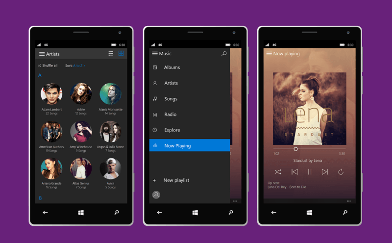 Windows 10 mobile concepto 3