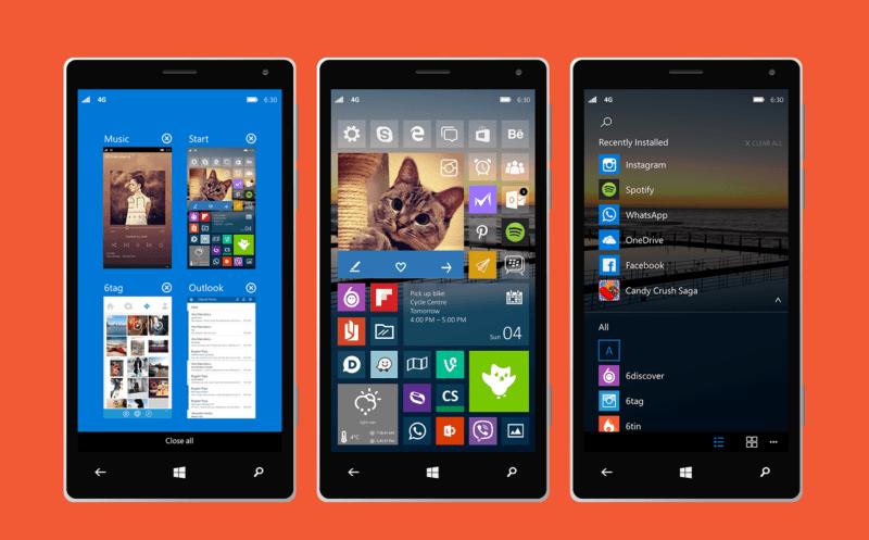 Windows 10 para móviles, os traemos unos conceptos muy atractivos
