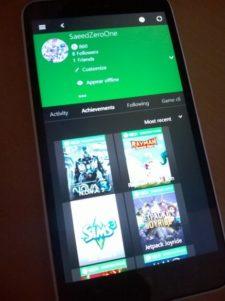 Primeras imágenes de la nueva aplicación Xbox de Windows 10 para móviles