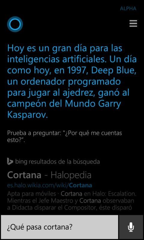 ¿Qué pasa Cortana?