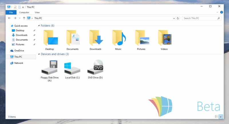 iconos windows 10 build 10125