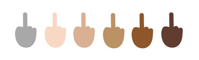 dedo medio emoji